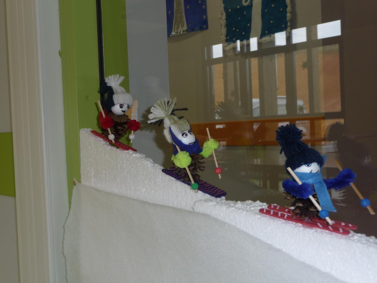 Les skieurs faits par CE1